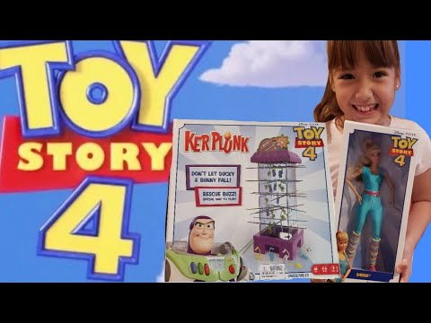 NEW Kerplunk Toy Story 4 Game | NEW Toy Story 4 Barbie  | Toy Story 4 Ker Plunk And Barbie Unboxing