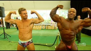 Beau Knows Bodybuilding (HD) - NRL Footy Show (March 20, 2014)