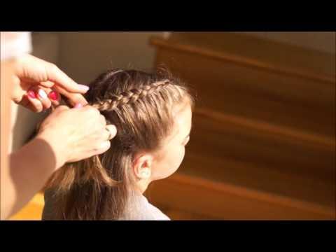 Fryzura Dla Dziewczynki Warkocz Francuski Odwrócony Hairstyle For A Girl