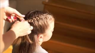 Fryzura dla dziewczynki + warkocz francuski odwrócony / hairstyle for a girl