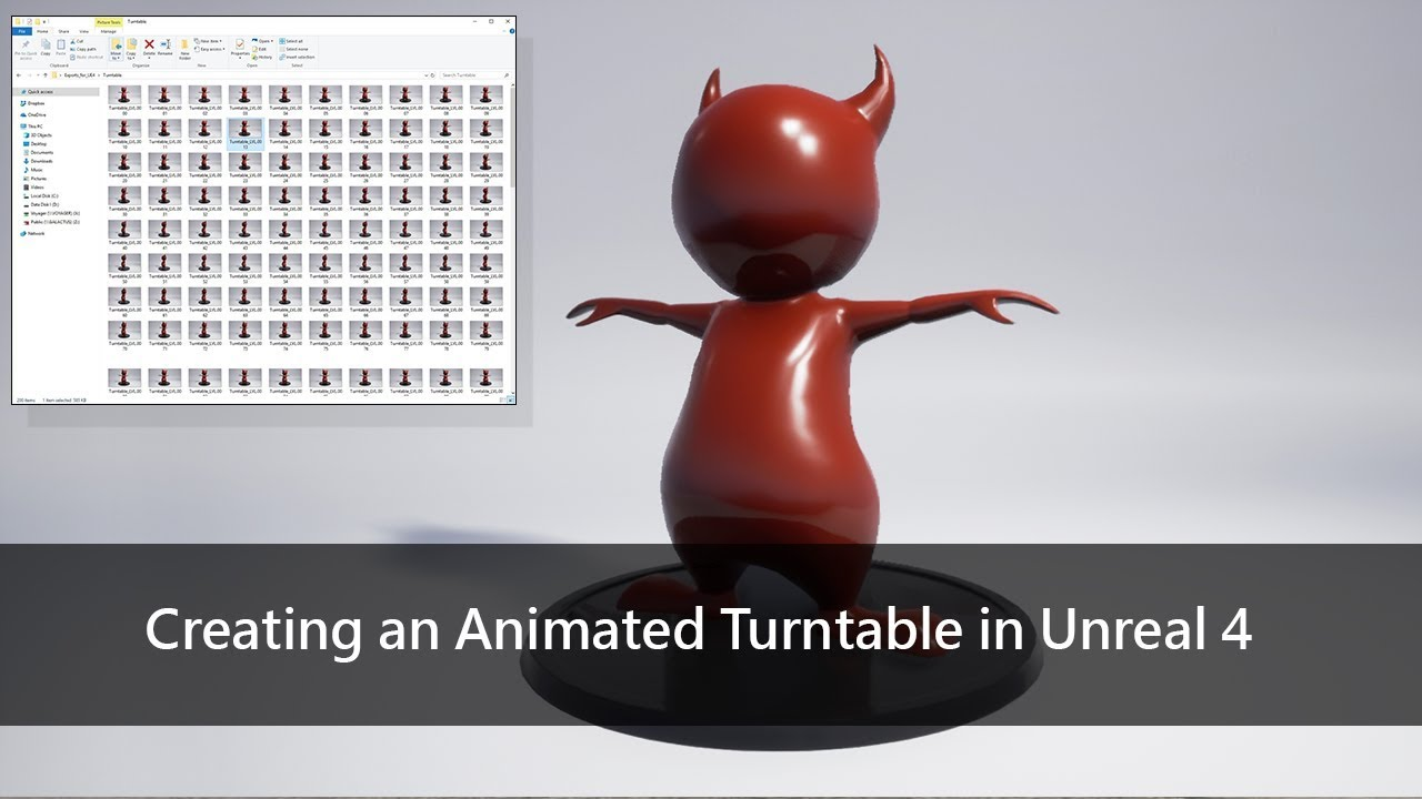 ArtStation - Creating an Animated Turntable in Unreal 4