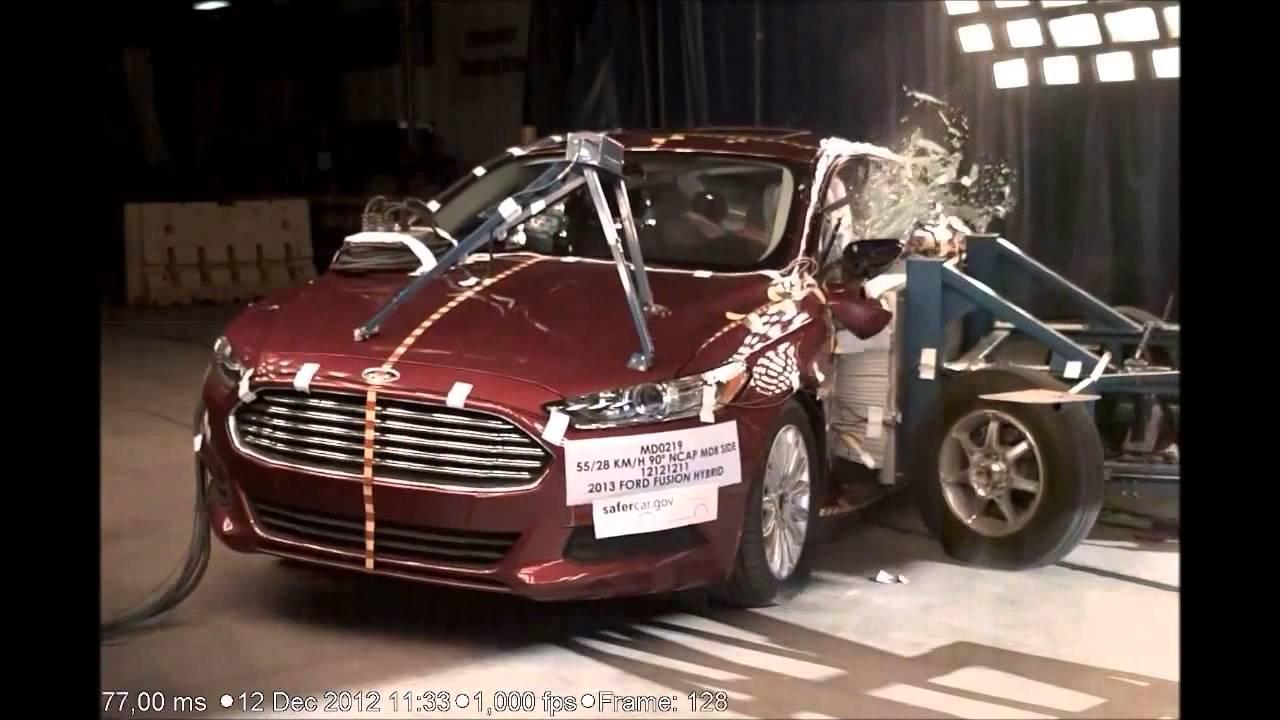 Nhtsa 2013 ford fusion sedan hybrid frontal side pole crash tests