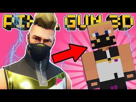 HOW TO MAKE DRIFT In PIXEL GUN 3D! (Fortnite Skin Tutorial)