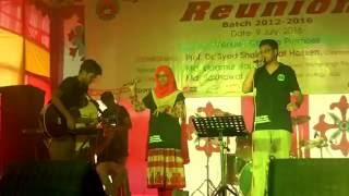 Chuye Dile Mon-Monmoy & Afsana (With Rony Sir at Background) | Performance at AUC REUNION