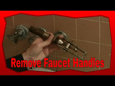 How To Remove Stubborn Bathtub Faucet Handles - YouTube