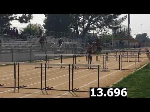 Girls F/S 100m Hurdles-Cleveland vs. El Camino Real Dual Meet 4/5/18 (Results in Description)
