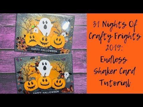 Endless Shaker Card Tutorial // 31 Nights Of Crafty Frights 2019 thumbnail