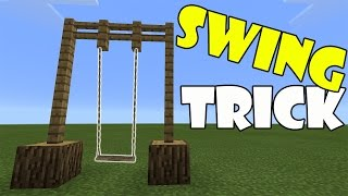 Repeat youtube video SWING TRICK | Minecraft PE (Pocket Edition) MCPE