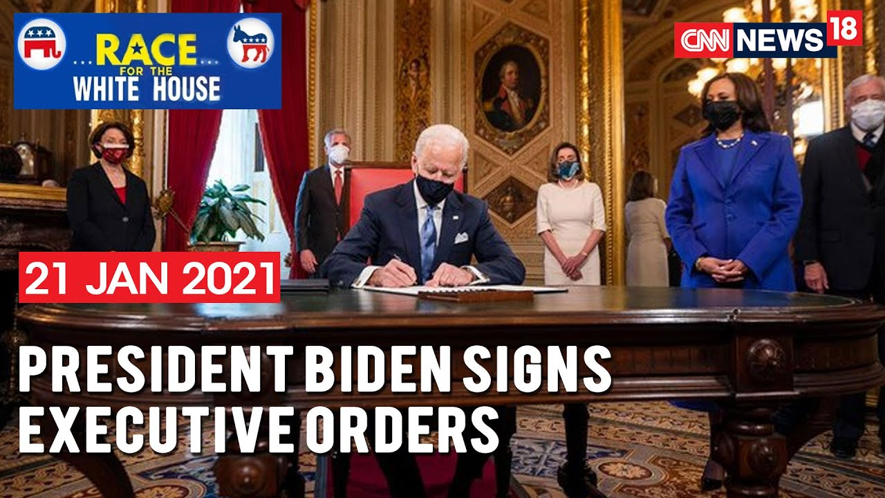 U.S President Joe Biden Signs Executive Orders And Other Presidential  Actions | CNN News18 - YouTube