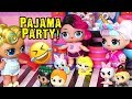 SWTAD LOL Families ! Sleepover at the LOL House ! Toys and Dolls Fun Pretend Play for Kids
