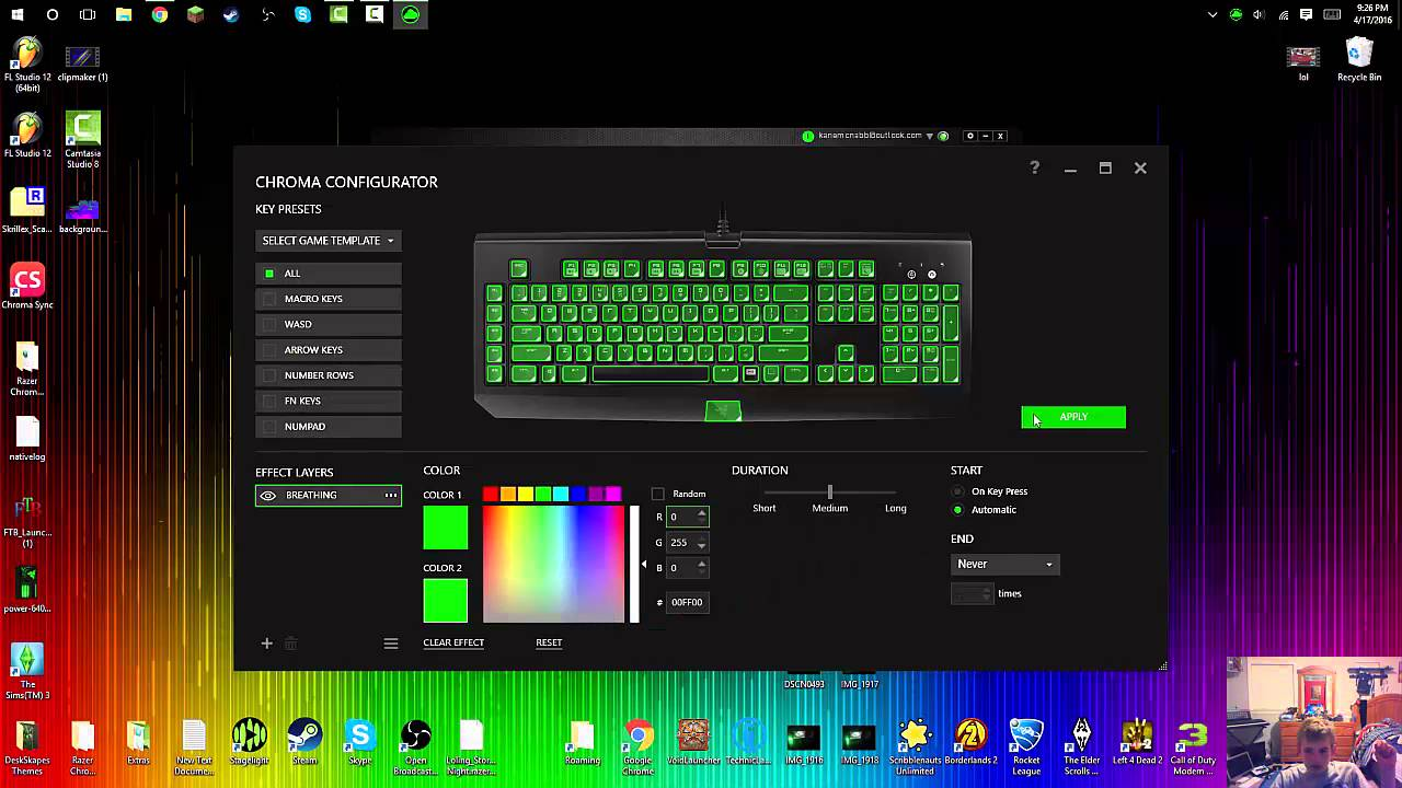 How to Download/Use Razer Synapse (Razer Chroma KeyBoard)