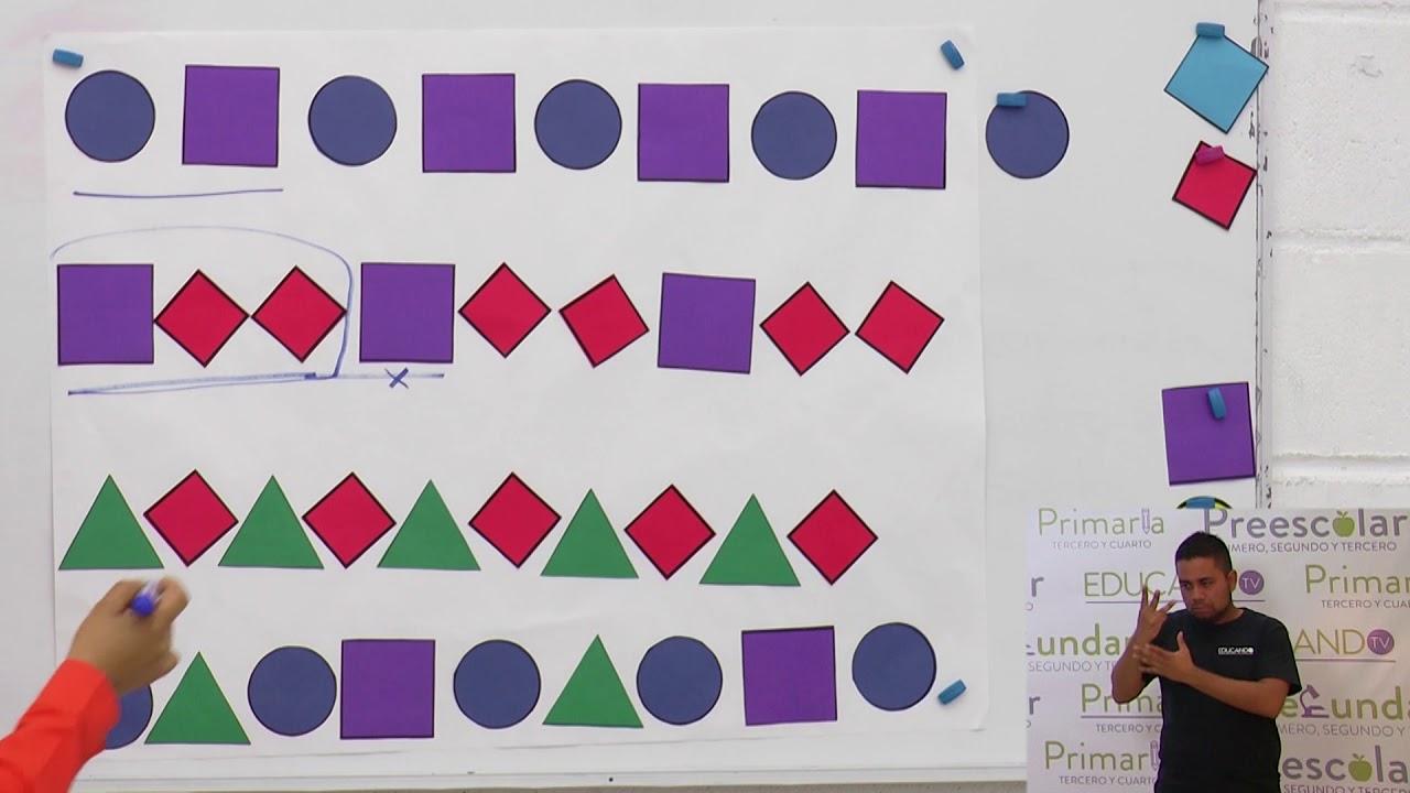 Primaria 1º y 2º clase: 142 Tema: Sucesiones de figuras (Segunda ...