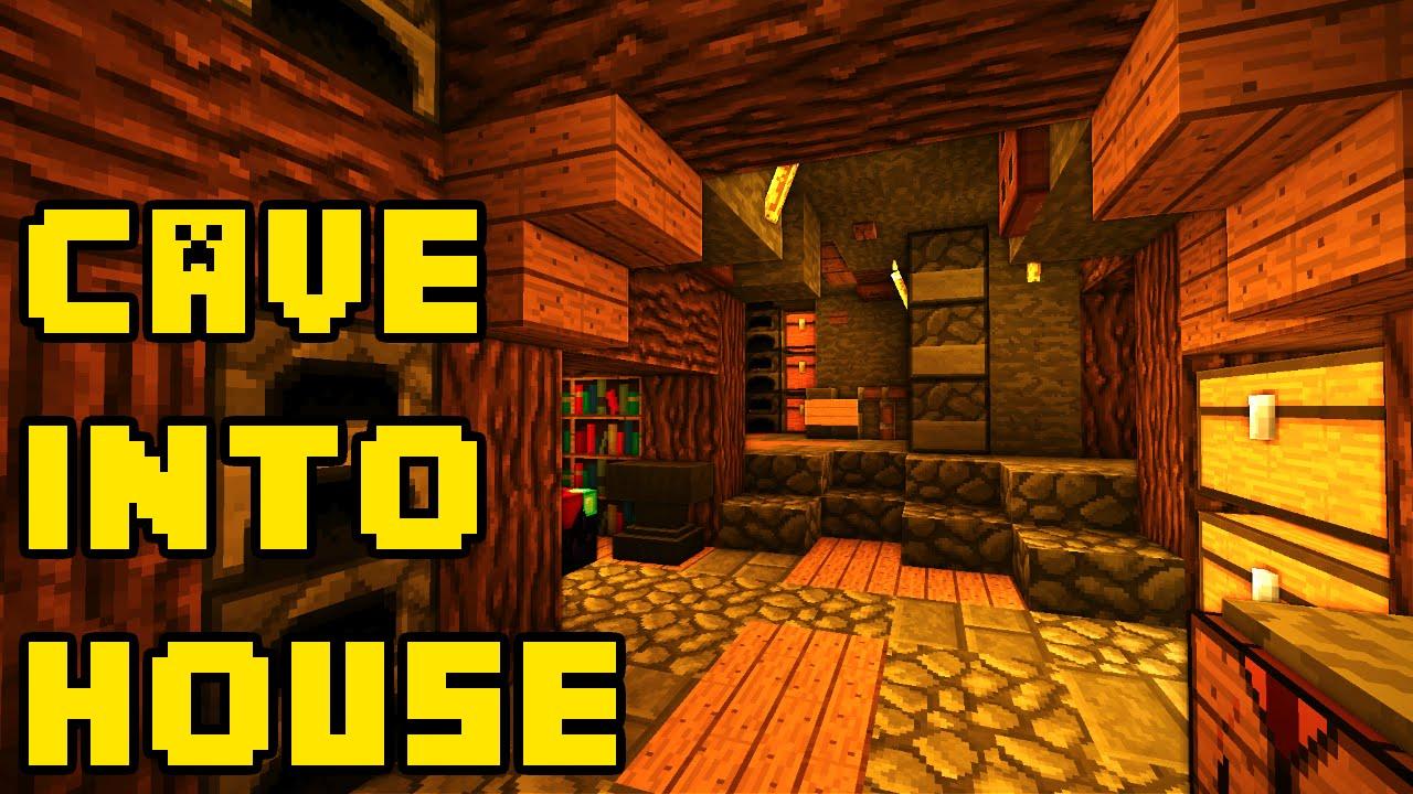 minecraft any cave into a big housebase tutorial xboxpe