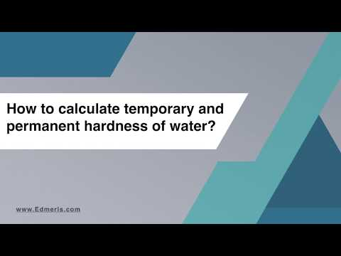 How To Calculate Temporary And Permanent Hardness Of Water?