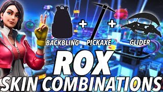 """Rox"" SKIN BEST BACKBLING + SKIN COMBOS! (Season 9) (Fortnite) (2019)"