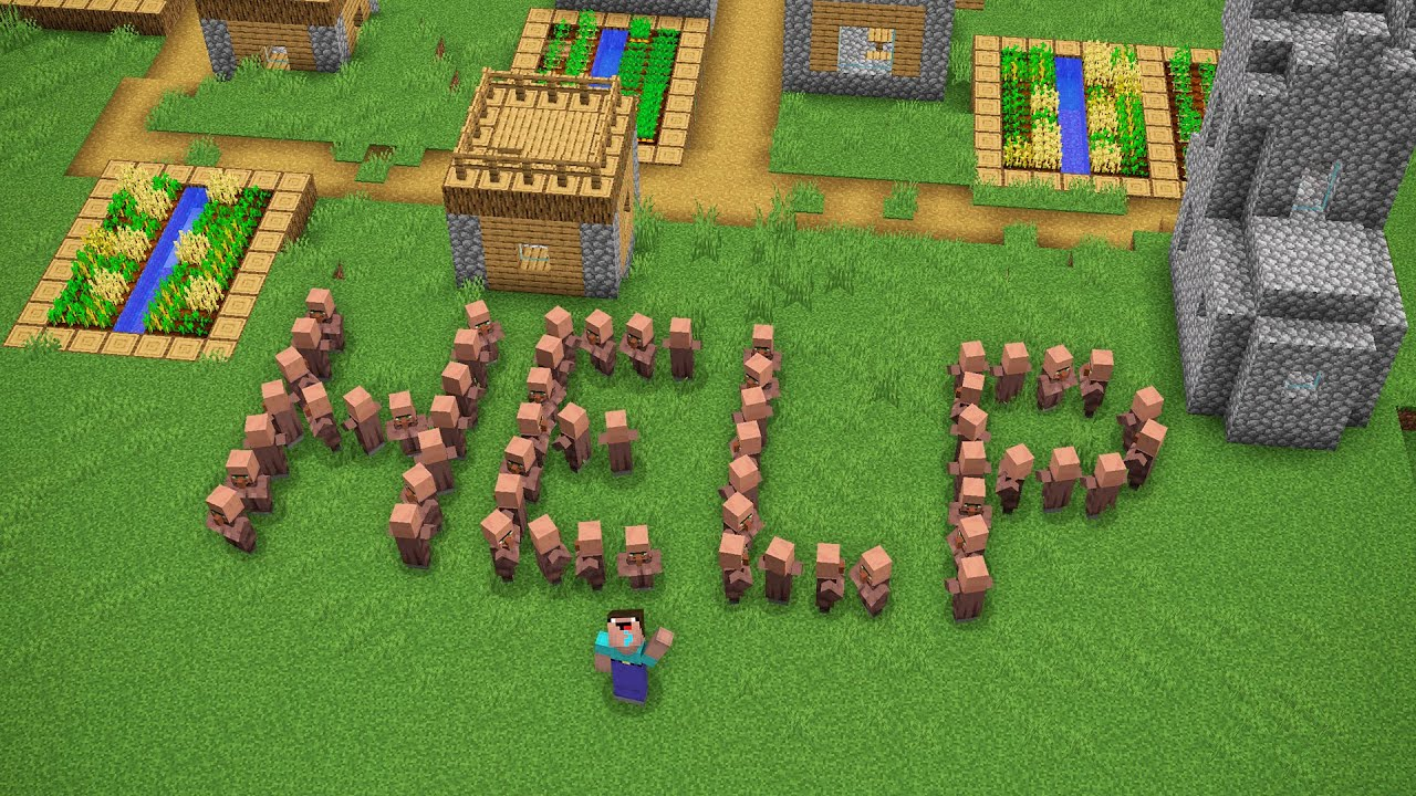WHY ARE ALL VILLAGERS OF THIS VILLAGE ASKING FOR HELP!? Minecraft NOOB vs PRO! 100% TROLLING GOD