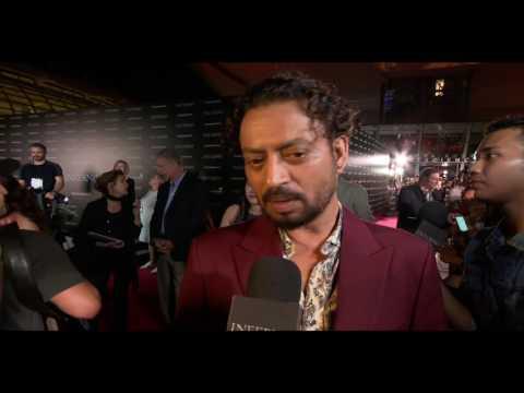 """Inferno: Irrfan Kahn """"Harry Sims"""" Movie Premiere Interview"""