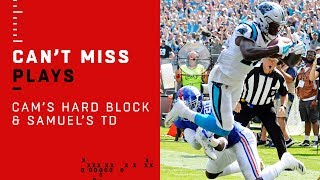 Cam Newton Lays Vicious Block & Curtis Samuel CAN'T BE STOPPED for the TD!