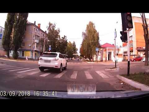 Лихач на иномарке в Новозыбкове.