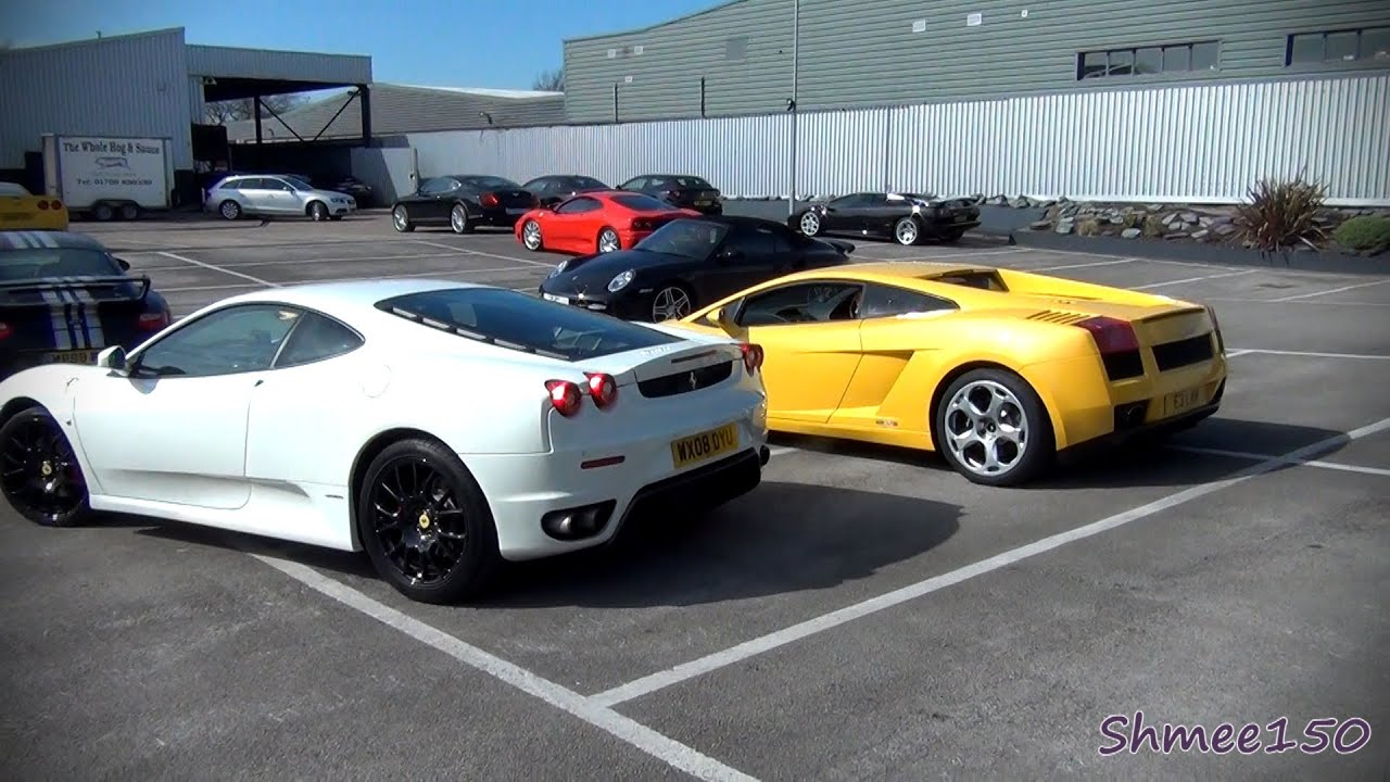 Ferrari F430 Vs Lamborghini Gallardo Revs And Drive Off Youtube