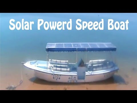 How to make a Solar Powered Speed Boat
