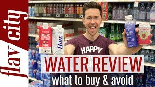 Best Water To Buy At The Grocery Store - Alkaline, Flavored, Electrolyte, & More!