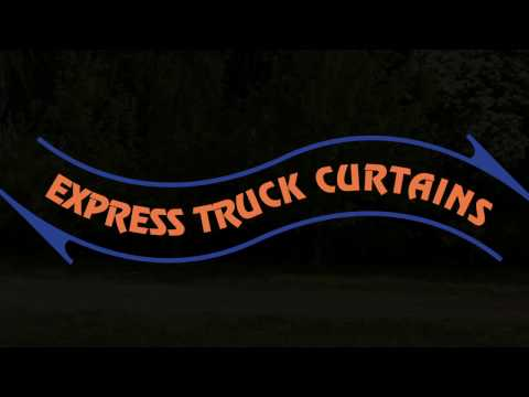 Express Truck Curtains - NEW Patented Buckle Free Load Restraint System