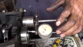 Установка колінчастого валу ваз 2101-2107 ,підбір наполегливих підлозі кілець.