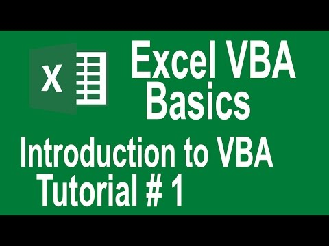 Excel VBA Programming Basics Tutorial # 1   Introduction to VBA   Writing Our First Macro