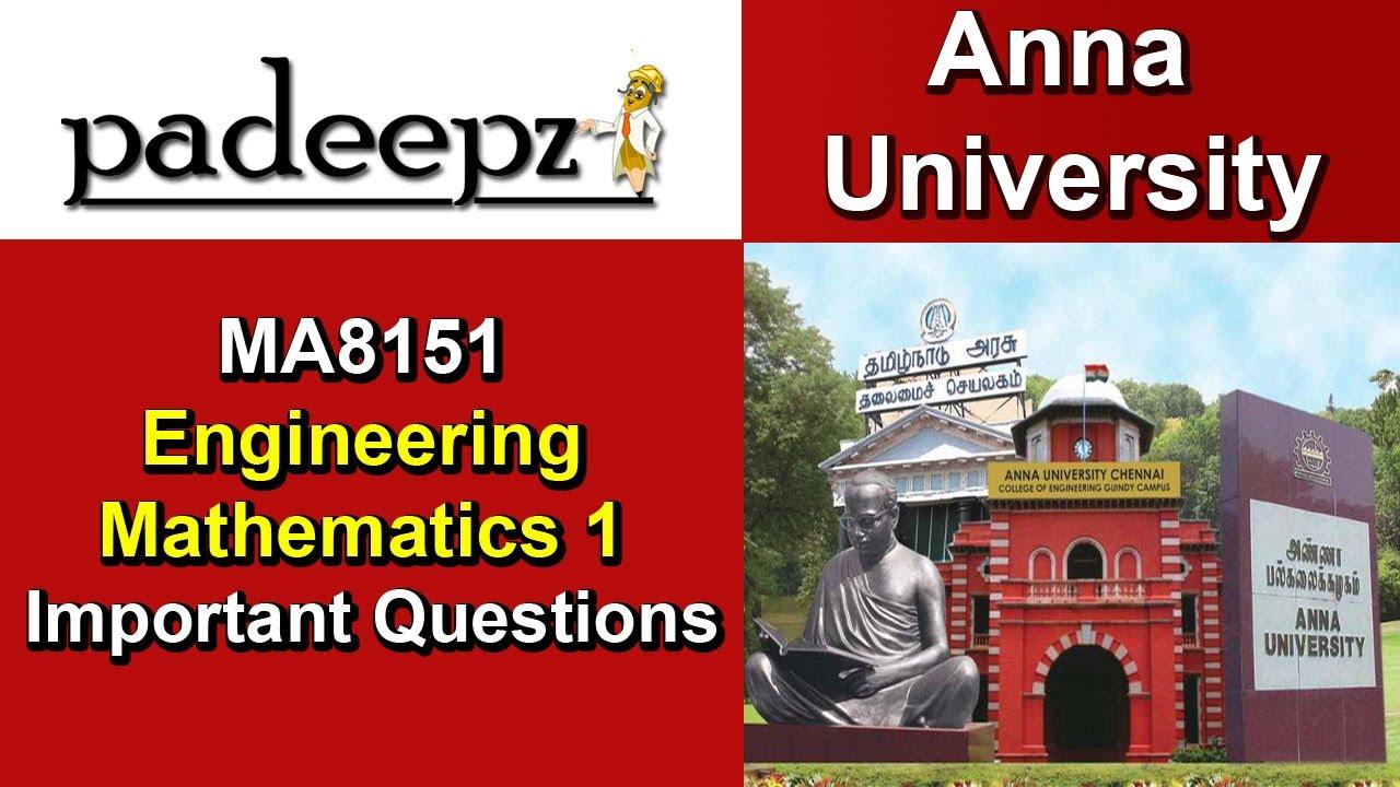 MA8151 Notes Engineering Mathematics 1 Regulation 2017 Anna