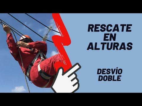 """RESCATE EN ALTURAS - """"Còmo hacer el desvío doble"""""""