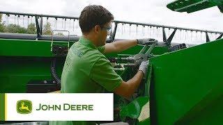 The new John Deere T-series combines: crop conversion