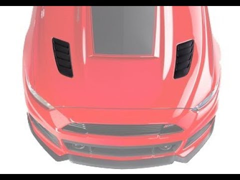 2015 2016 2017 Mustang Hood Heat Extractor Louver Pair Race Red New Take Off