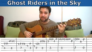 Fingerstyle Tutorial: Ghost Riders in the Sky - Guitar Lesson w/ TAB