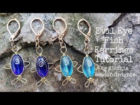 Evil Eye Fish Earrings Tutorial