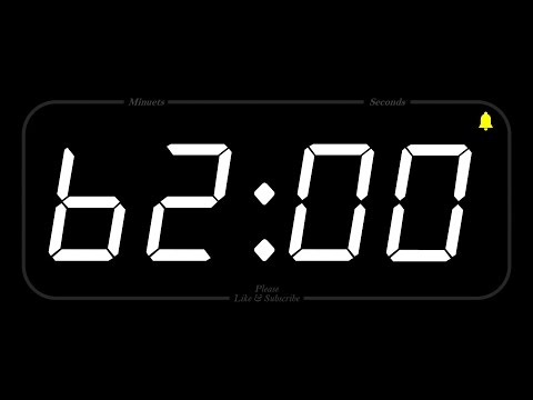 62 MINUTE - TIMER & ALARM - 1080p - COUNTDOWN