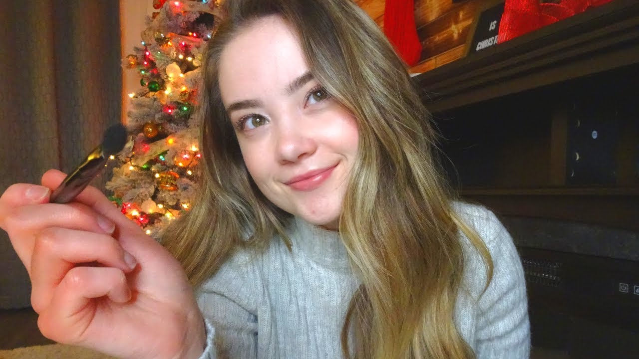ASMR Doing Your Christmas Party Make Up   Personal Attention Role Play, Tapping, Whispers