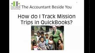 Tracking Mission Trips or Member Accounts in QuickBooks