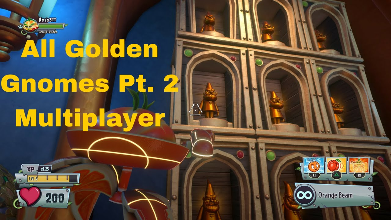 Plants Vs Zombies Garden Warfare 2 All Golden Gnomes Pt 2 Multiplayer Maps Only Youtube
