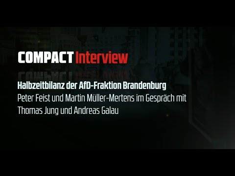 Exklusiv: COMPACT-Interview mit Thomas Jung und Andreas Galau (AfD Brandenburg)