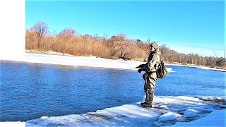 Открыл сезон жидкой воды Рыбы нет но вы держитесь Рыбалка на спиннинг 2021 Река Анюй