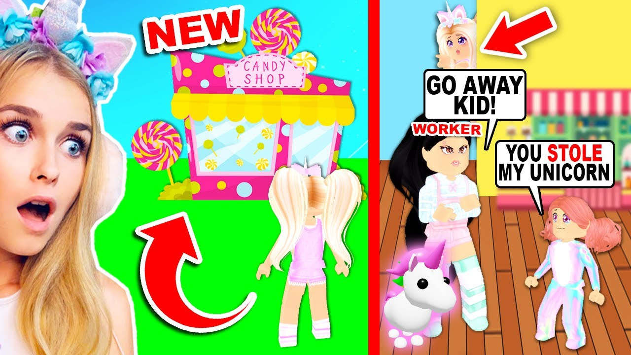 *NEW* CANDY SHOP In Adopt Me STEALS KIDS PETS For THIS Reason.. (Roblox)