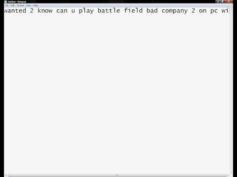 Battlefield bad company 2 pc-xbox controller?