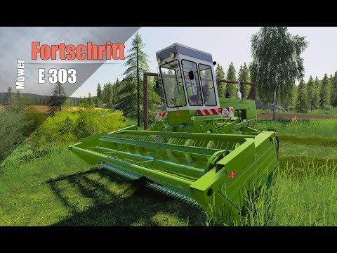Farming Simulator 2019. ПРОСТОКВАШИНО. КОСИЛКА FORTSCHRITT E 303.