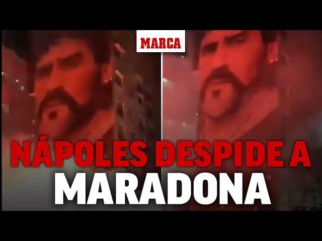 Nápoles despide a Maradona: así es el homenaje en las calles de la ciudad I MARCA