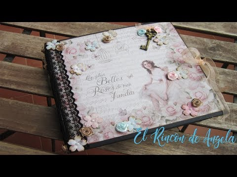 #1 Album Romantico scrap-Diy manualidades-Scrap – scrabooking-scrapbook