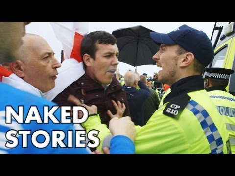This is England! St Georges Day Riot: EDL supporters vs Anti-Fascists in Brighton