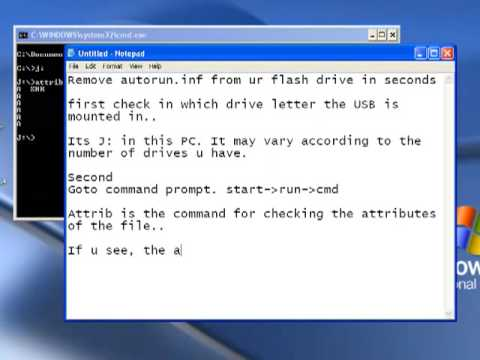 remove autorun virus from ur flash drive