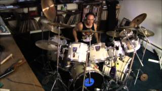 Foreigner * Double Vision * drum cover double bass drum beat example