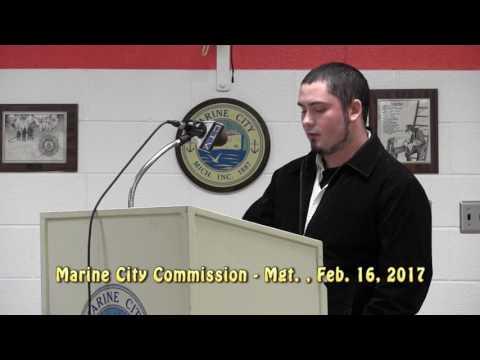 Marine City Commission Mgt., Feb. 16, 2017